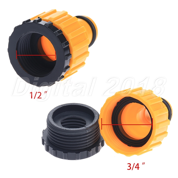 Quot and plastic threaded hose adapter pipe connector