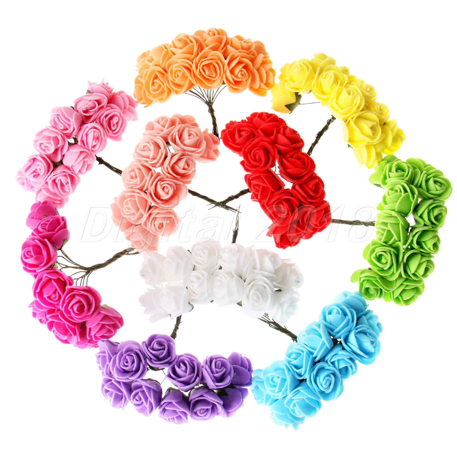 Mini artificial foam rose diy wreaths silk flowers multicolor image is loading mini artificial foam rose diy wreaths silk flowers izmirmasajfo Gallery
