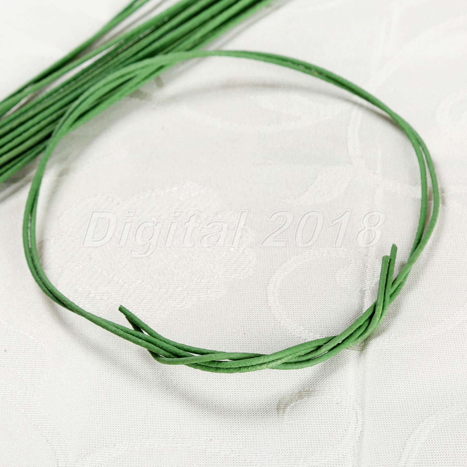 60cm Artificial Flower Stub Stem DIY Decor Green Floral Tape Iron ...