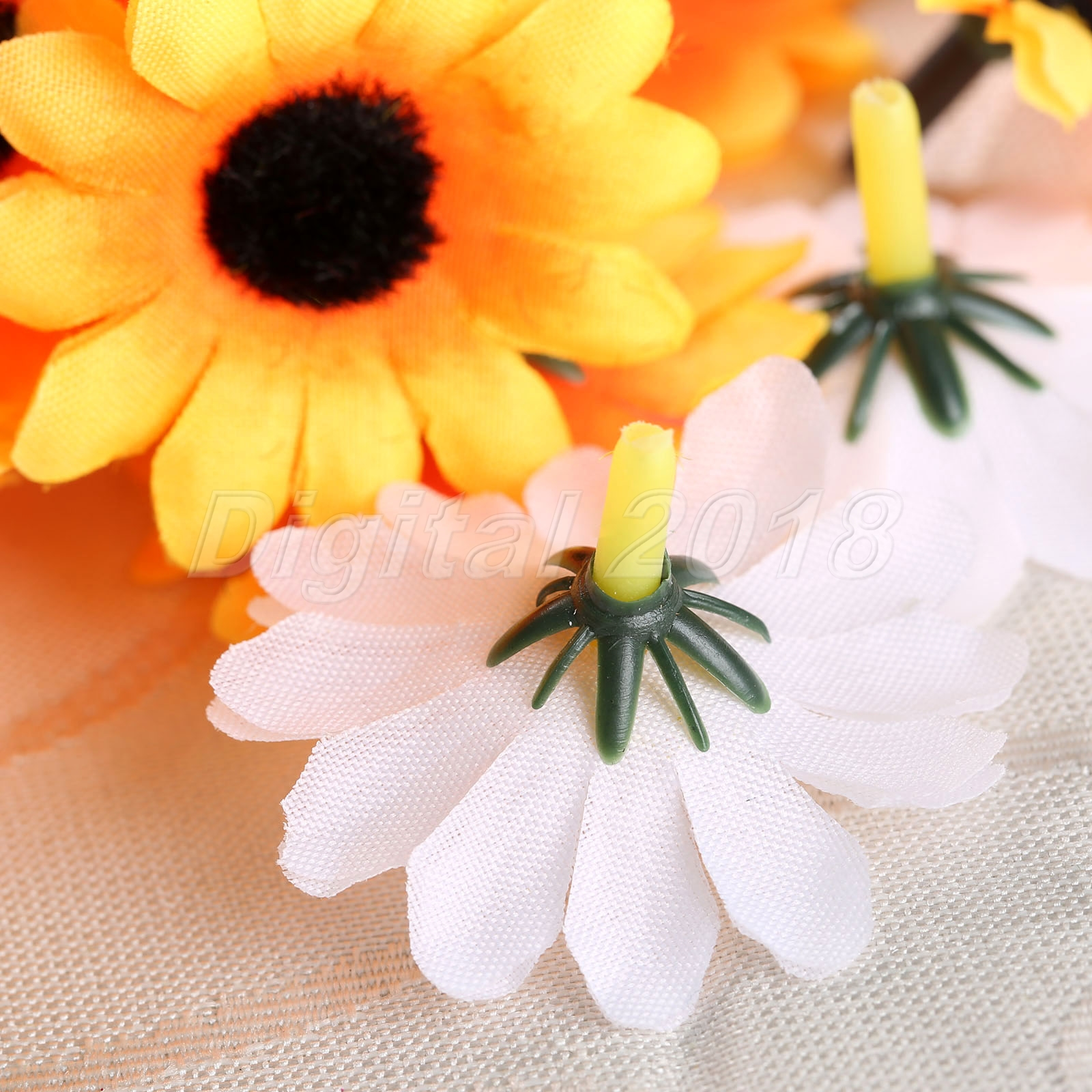 mini gerbera daisy flowers heads home wedding party headwear hats decorative diy ebay. Black Bedroom Furniture Sets. Home Design Ideas