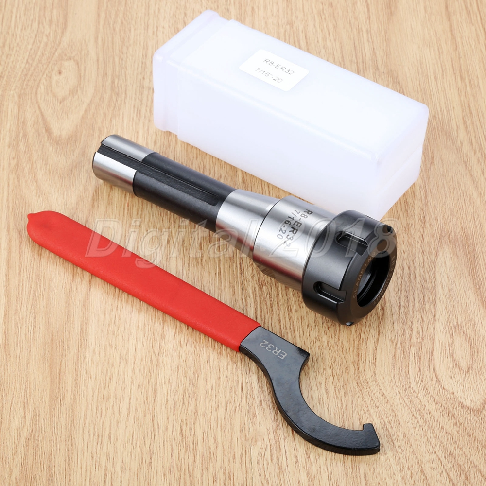 6.3/'/' R8-ER32 7//16 Collet Chuck Holder 16CM CNC Milling Lathe Tool With Wrench