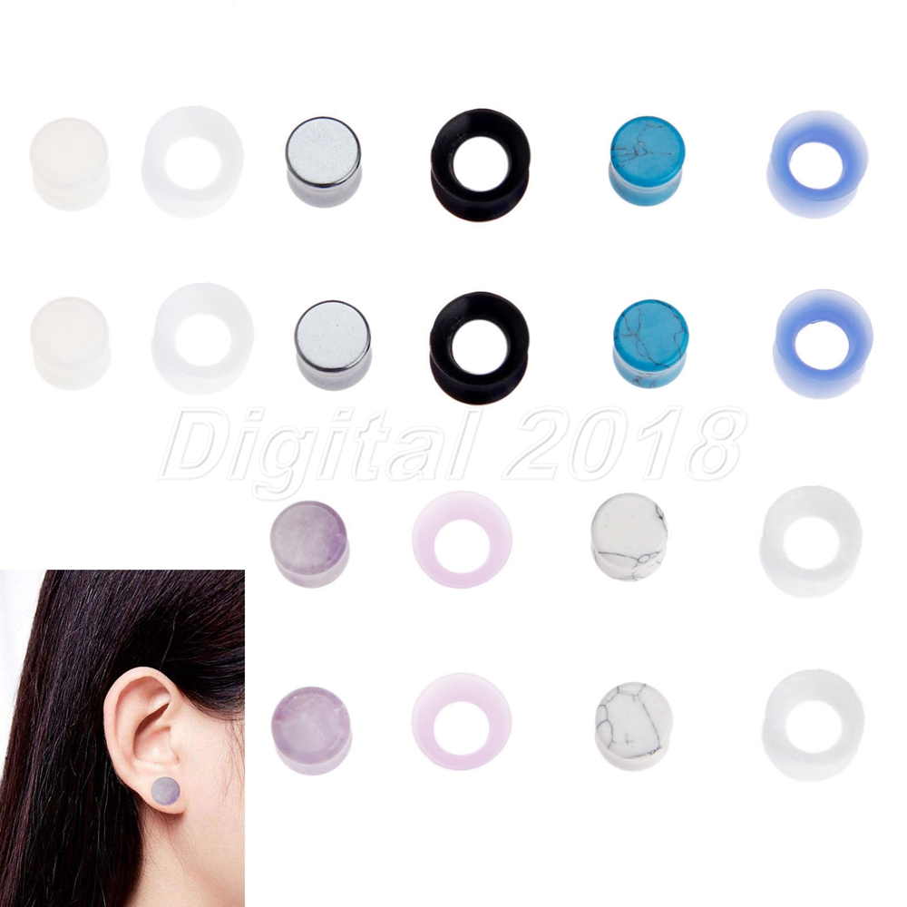 Covet Jewelry Glow in The Dark Silicone Double Flared Ear Gauge Tunnel Plug