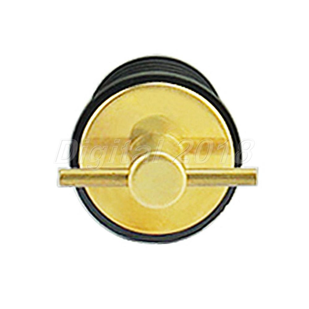"Hole 1//2NPT Marine City Brass Drain Plug Fits 1/"" Dia"
