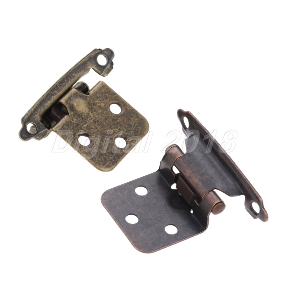 2pc Vintage Kitchen Cabinet Door Hinges Self Closing Stay Flush Variable Overlay Ebay