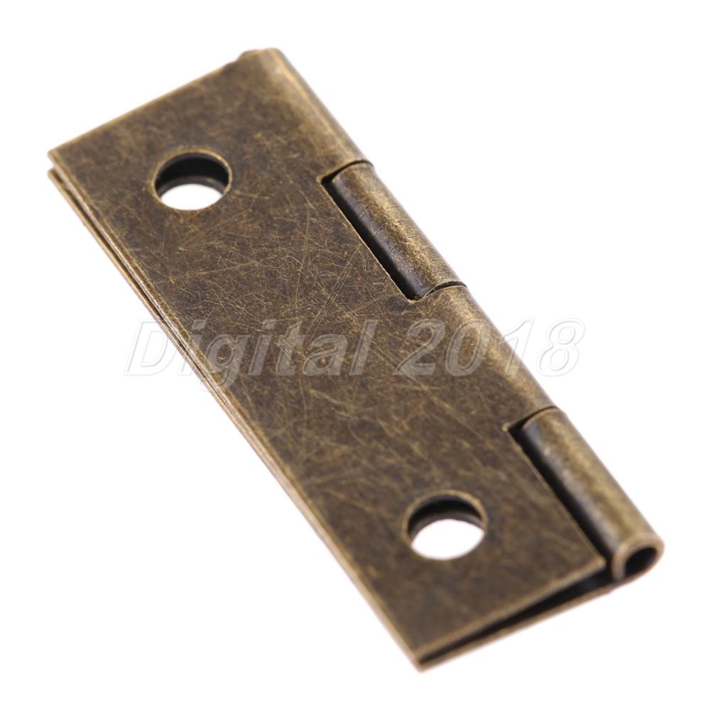 4//12//20Pcs Antique Door Butt Hinges Cabinet Drawer W// Screw Iron Wooden Box Case