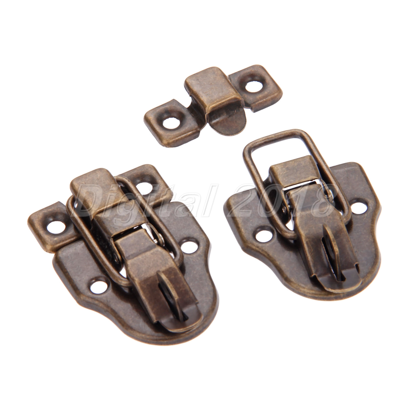 59mm*40mm Gold Silver Cabinet Suitcase Jewelry Box Latch Hasps Lock Toggle Catch